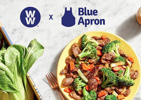 blue apron and ww