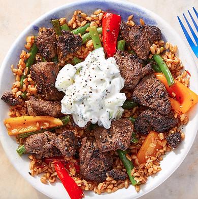 blue apron weight watchers beef shawarma bowl