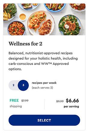 blue apron wellness for 2 plan