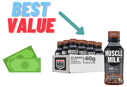 best value for muscle milk
