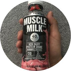 pro series muscle milk shake slammin' strawberry